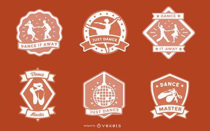 Conjunto de design de distintivo de dança