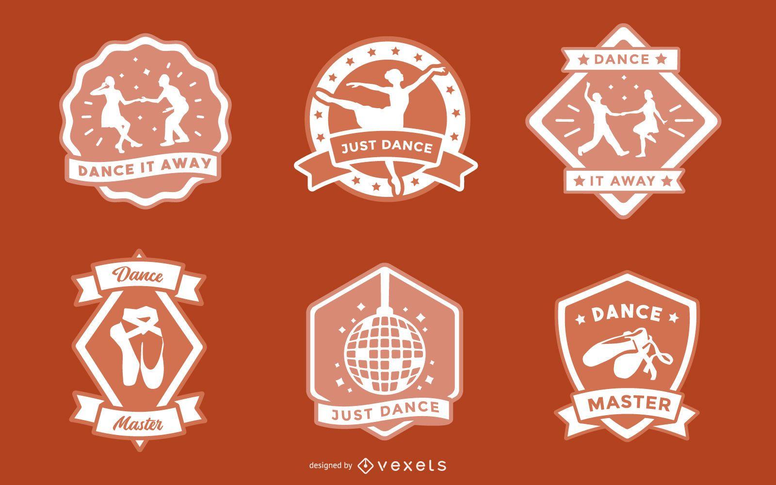 Dance Badge Design Set