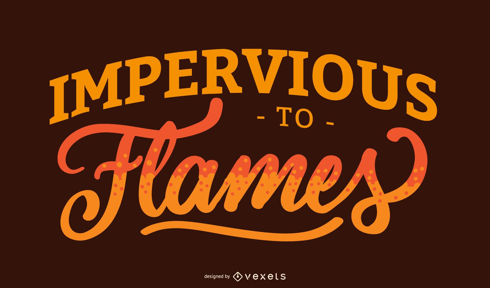 Firefighter Lettering Quote Design