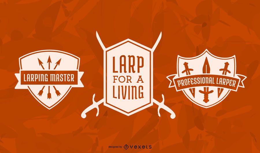 LARPing badge set