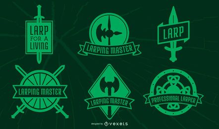 Paquete de insignias LARPing