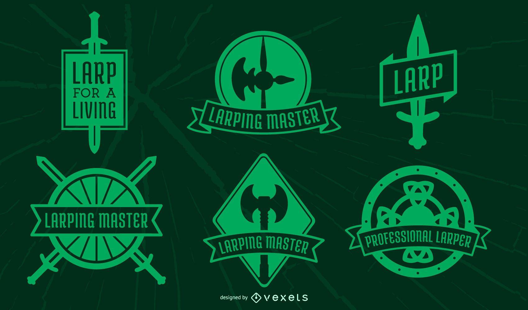 LARPing badge pack