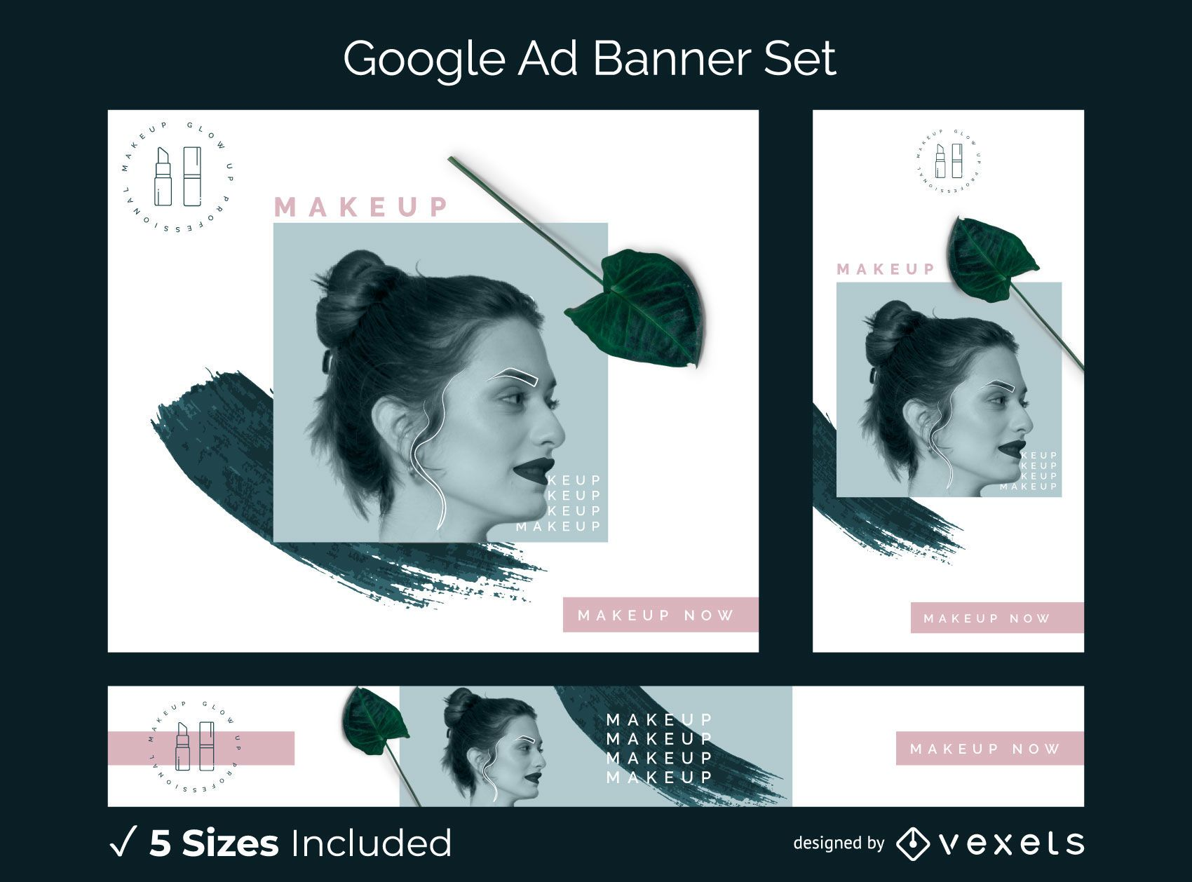Makeup google ad banner set