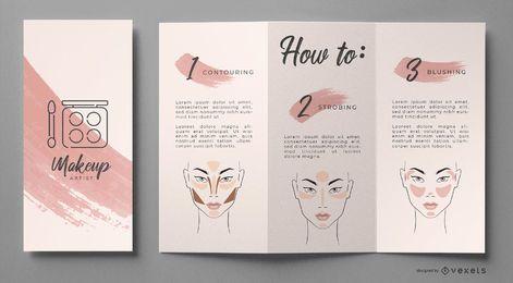 Modelo de folheto de maquiagem