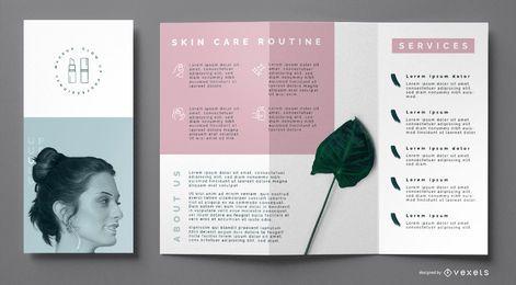 Skincare brochure template