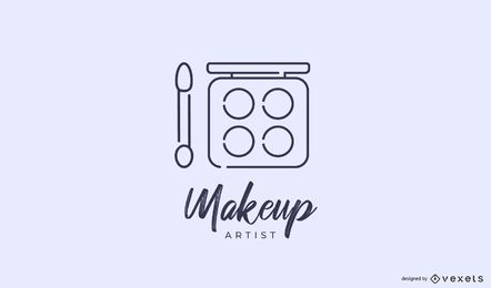 Makeup artist logo template