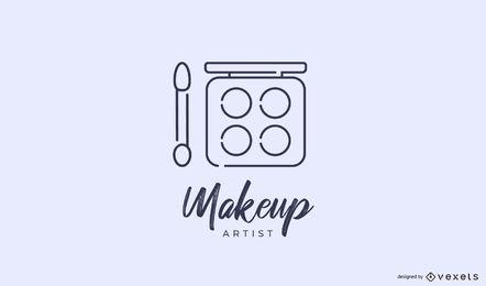 Modelo de logotipo de maquiador