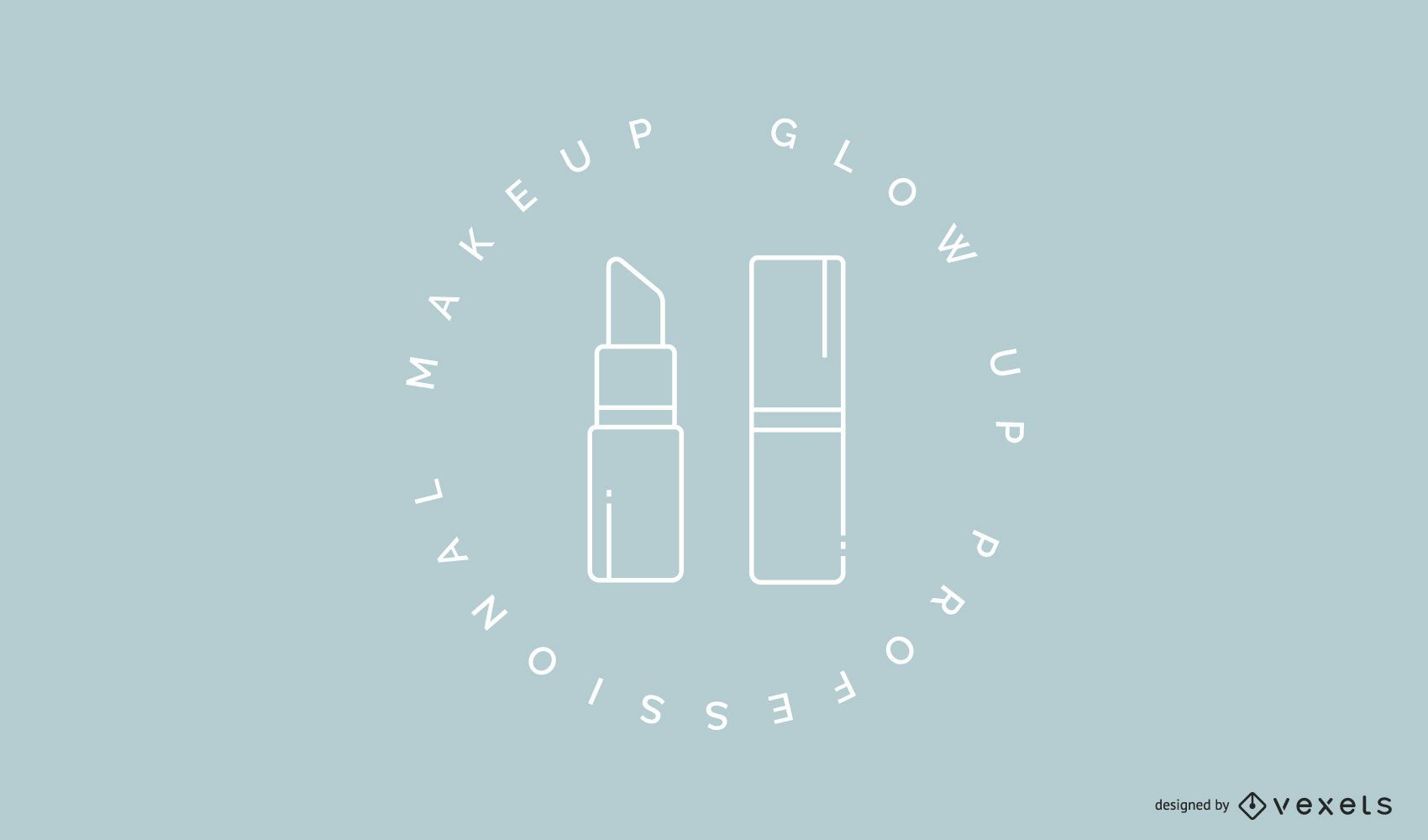 Makeup lipstick logo template