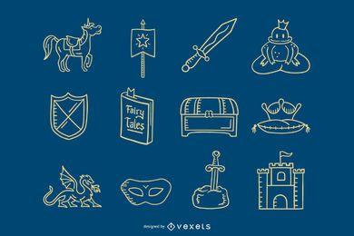 Colección de trazos de Prince elements