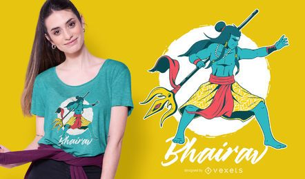 Design de t-shirt Shiva