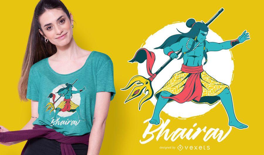 Design de t-shirt Shiva