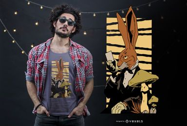 Bunny magic t-shirt design