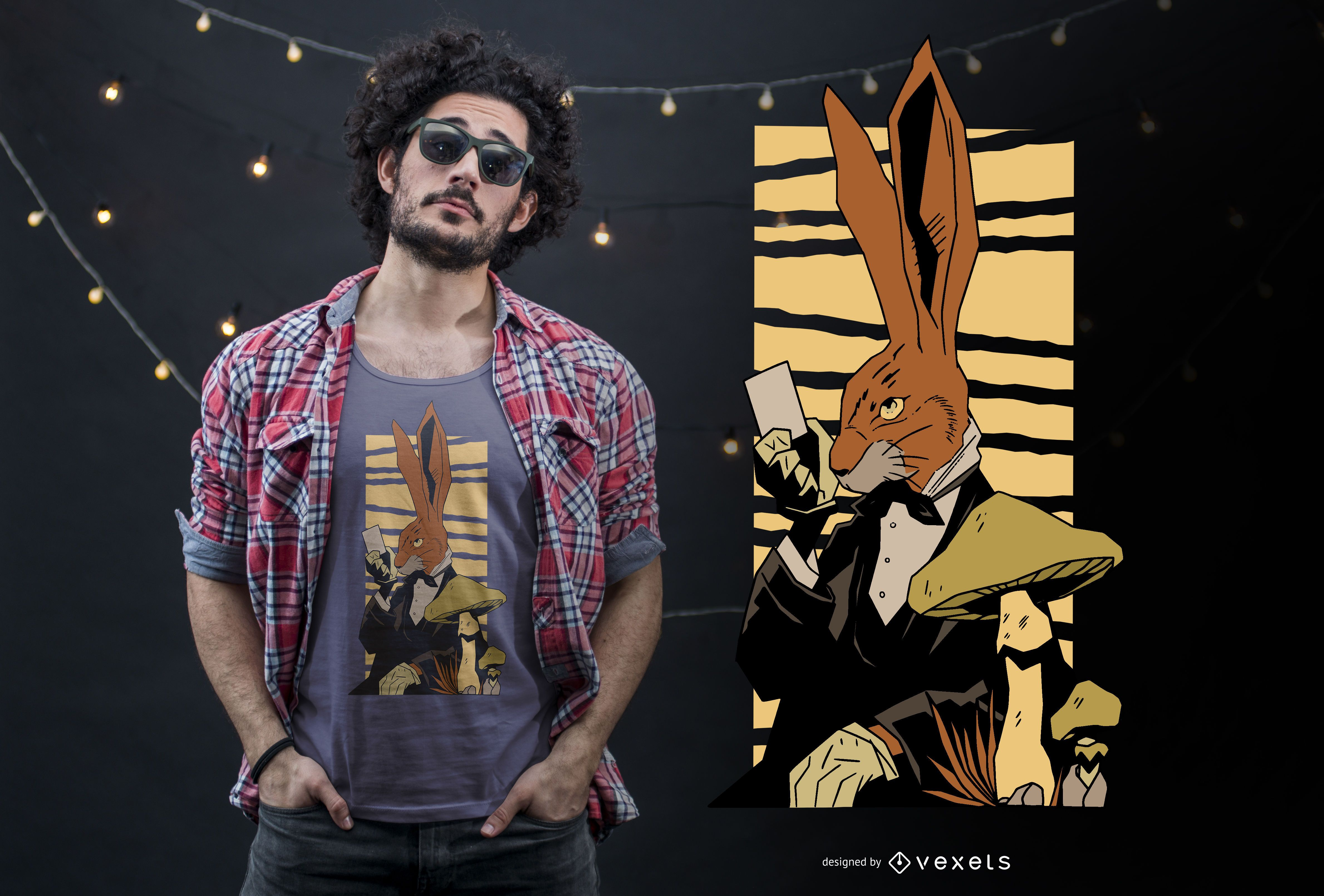 Bunny magic t-shirt design