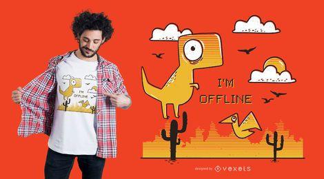 Estou offline design de camiseta
