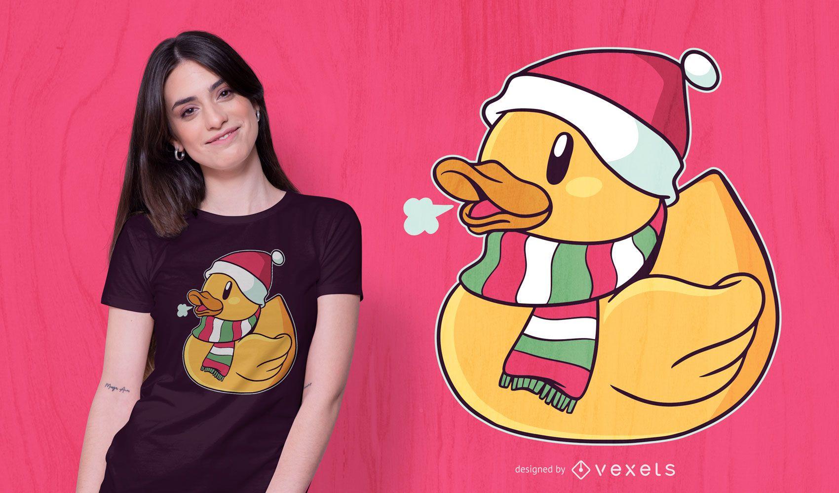 Christmas duck t-shirt design