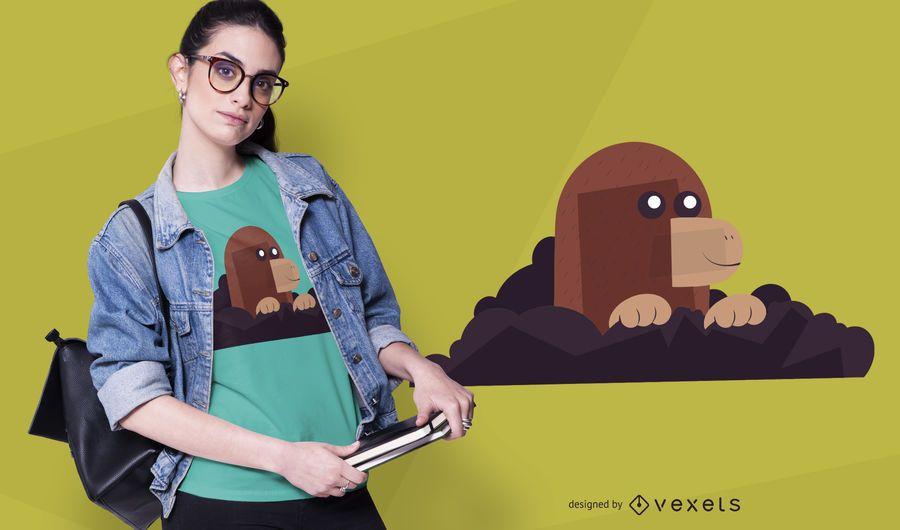 Cute mole t-shirt design
