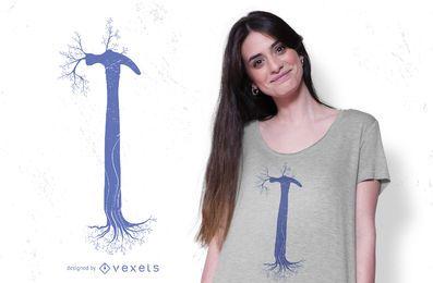 Design de t-shirt de árvore de martelo