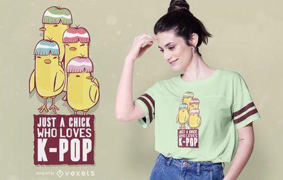 Design de t-shirt Kpop garota