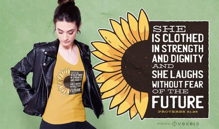 Sunflower quote t-shirt design