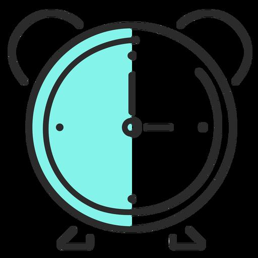 Alarm clock clock flat stroke Transparent PNG