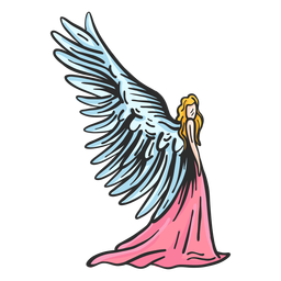 Ala del ángel plana