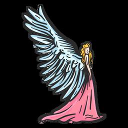Asa de anjo plana