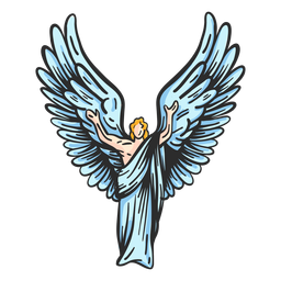 Postura de asa de anjo plana