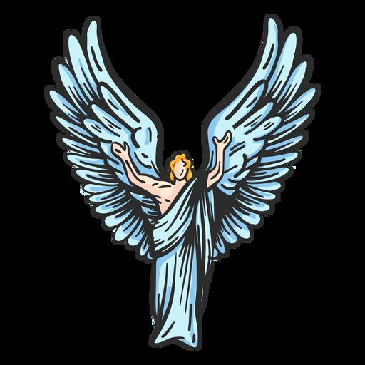 Angel wing posture flat