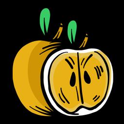Golpe plano de manzana