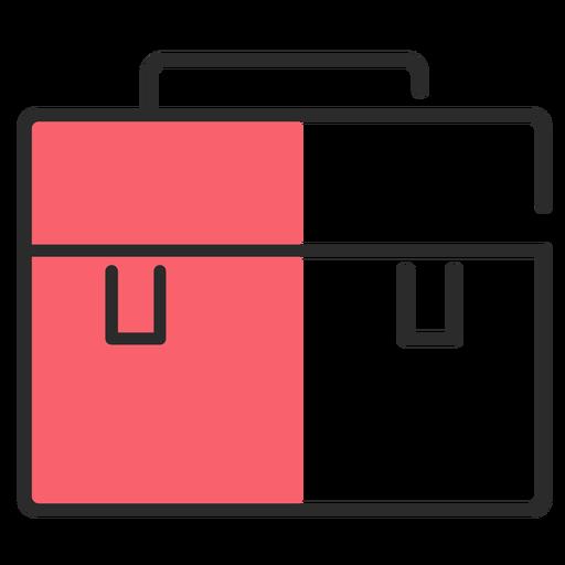 Bag case flat stroke Transparent PNG