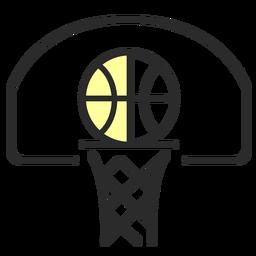 Baloncesto cesta tablero plano trazo
