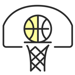 Basket ball backboard flat stroke