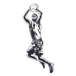 Basketball player player ball illustration