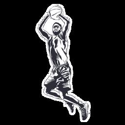 Ilustración de bola de jugador de jugador de baloncesto