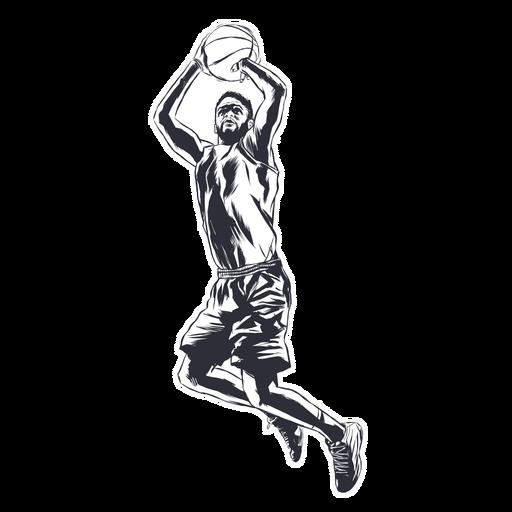 Jugador de baloncesto jugador bola ilustración Transparent PNG