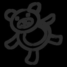 Urso teddy doodle