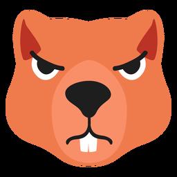Beaver muzzle angry flat sticker