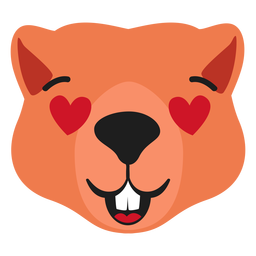 Beaver hocico enamorado pegatina plana