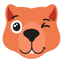 Beaver muzzle glad flat sticker
