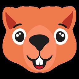 Beaver muzzle happy flat sticker
