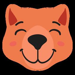 Beaver muzzle joyful flat sticker