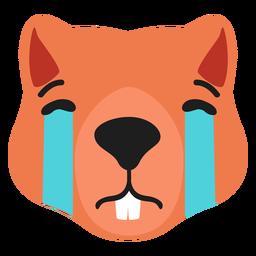 Beaver muzzle sad flat sticker