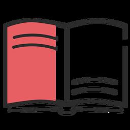 Book manual flat stroke