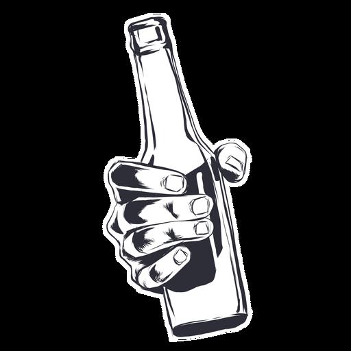 Bottle hand illustrartion Transparent PNG