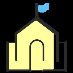 Construção de traçado plano de bandeira