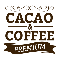 Cacao & coffee premium badge sticker
