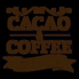 Insignia premium de cacao y café