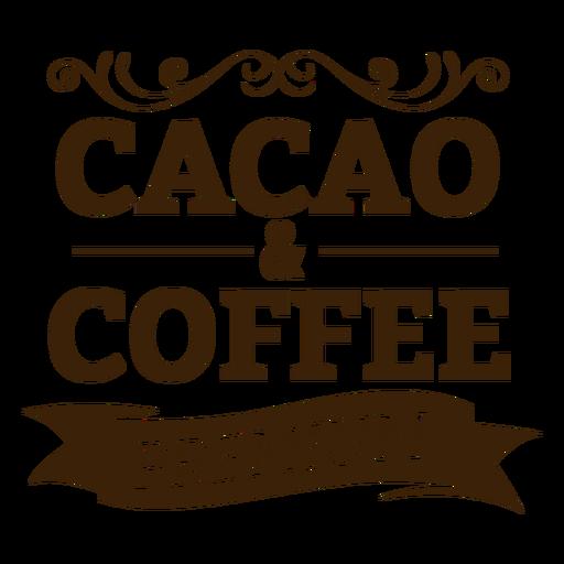 Insignia premium de cacao y café Transparent PNG