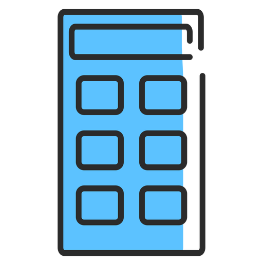 Calculator flat stroke Transparent PNG