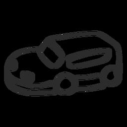 Doodle de máquina de coche